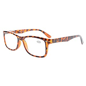 Eyekepper Readers Spring-Hinges Quality Classic Vintage Style Reading Glasses Tortoise +0.5