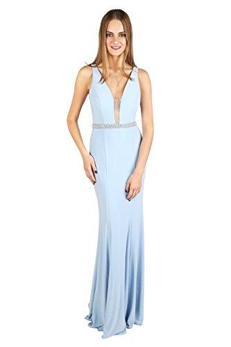 Schal Mythologie Stil Dynasty Damen 1022807 Coral ohne Lange Spirit Ice Blue Kleid xUn6BfwZnq