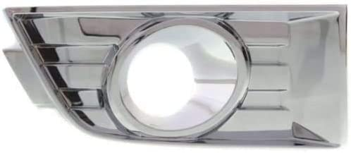 I-Match Auto Parts Right Passenger Side Fog Lamp Hole Cover Bezel Replacement For 2007-2010 Ford Edge 7T4Z17E810B FO1038107 Chrome With Fog Light Hole