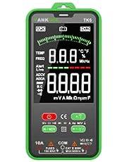 Digital multimeter, TANKOOL TK6 intelligent mätanordning palmstor strömmätare CAT III 600 V, True RMS bilsortiment, mäter spänning, kapacitet, återstående för elektriker