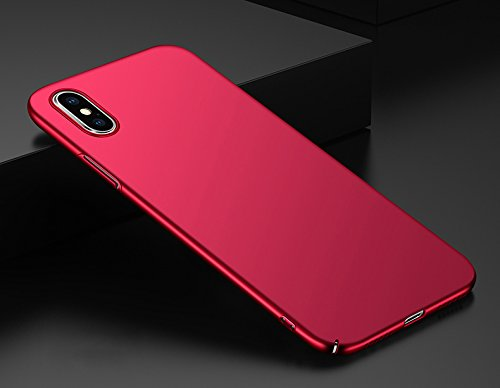 Ultra Choc Bumper Anti Rayures Apple Housse Coque Cover Absorption XS Lger Ultra Soyeux Case iPhone Chocs pour Cover PC XS Protection Max Rouge des Euit Mince Anti iPhone wqwxZtX