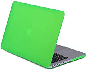 For Apple Macbook Air 13 13.3 Inch Matte Rubberized Slim Soft-touch Coating See Through Plastic Hard Case Cover For Macbook Air Green color