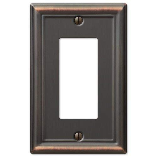 (GFCI Decora Rocker Wall Switch Plate Outlet Cover - Oil Rubbed Bronze)