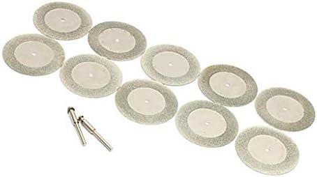 10個 50mm ダイヤモンド研削ディスク コーティング 2個マンドレル付き 超薄型 高品質 実用的