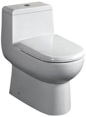 EAGO TB351 Dual Flush Eco-Friendly Ceramic Toilet, White, 1-Piece