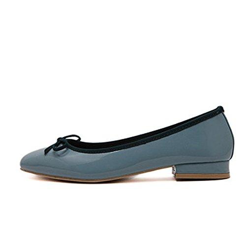 616Sky Damen fereshte School Dolly On Work Slip Ballerinas Damen Pumps Schuhe Bequemer Blau p41wx4fq