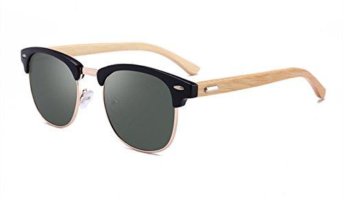 Gafas PC Pescar Bambú Blue De De Para Black Marco Gafas Hombre Lente MYLEDI Polarizadas De De Sol dYnYz1F
