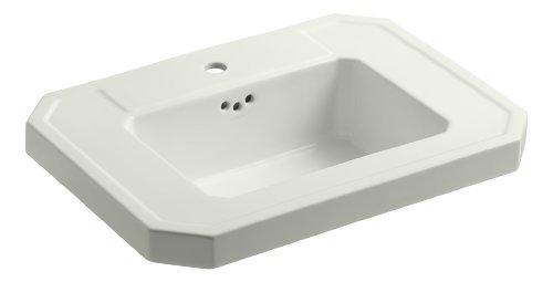 KOHLER K-2323-1-NY Kathryn Bathroom Sink Basin with Single-Hole Faucet Drilling, Dune