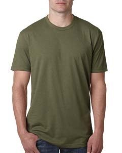 Next Level Apparel N6210 Mens Premium CVC Crew - Military Green, Large