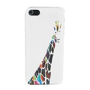DD Lovely Giraffe Pattern PC Back Case for iPhone 5