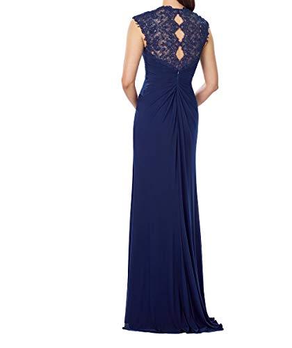 Traube Elegant Brautmutterkleider Spitze Lang Damen Abendkleider Etuikleider Charmant Festlichkleider Promkleider qOxzgTw