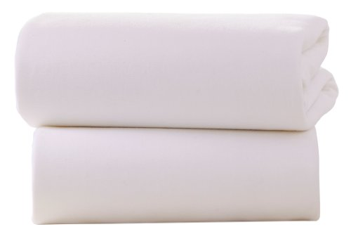 Clair-de-Lune-Cot-Bed-Cotton-Jersey-Fitted-Sheets-Pack-of-2-White