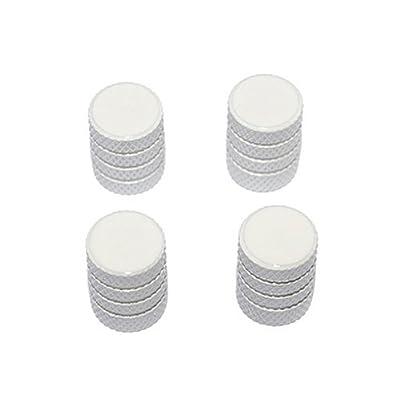 Graphics and More Tire Rim Wheel Aluminum Valve Stem Caps - White Color: Automotive