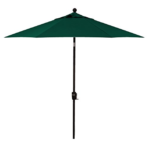 11-Foot Treasure Garden (Model 812) Deluxe Auto-Tilt Market Umbrella with Bronze Frame and Obravia2 Fabric: Forest Green