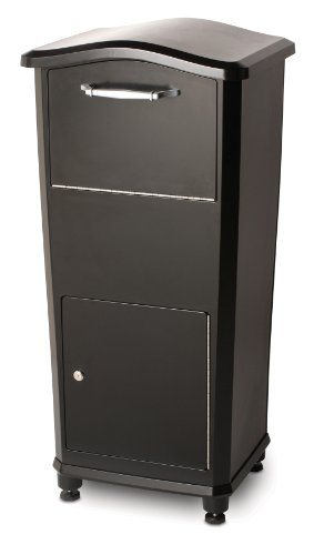 Package Drop - Architectural Mailboxes 6900B Elephantrunk Parcel Drop Box Black
