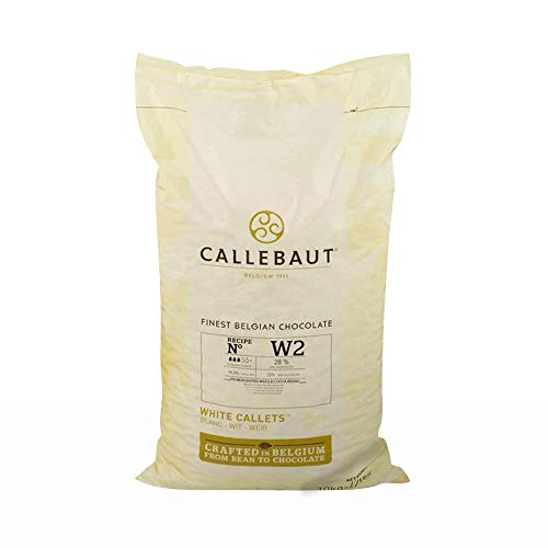 Callebaut Belgian White Baking Chocolate Callets - 29.5% Cocoa Butter, 0% Fat Free Cocoa, 6.3% Milk Fat, 16.7% Fat Free Milk - Good For Cakes, Mousse, Truffle, Fillings & Dipping - 22 Lbs by Callebaut (Image #1)