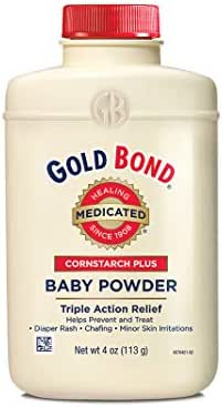 Baby Powder: Gold Bond Medicated Cornstarch Plus