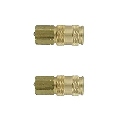Milton 764 V-Style Hi-Flo Coupler Body - Brass, 1/4in. FNPT, 2 Pack New