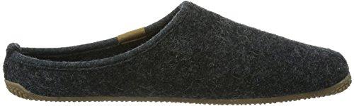 Living Kitzbühel Pantoffel Lederlogo - Zapatillas de estar por casa de lana para hombre gris - Grau (600 anthra)