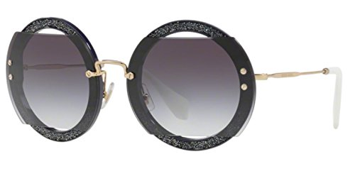 Miu Miu Women's Glitter Reveal Sunglasses, Dark Violet/Grey Gradient, One - Miu Miu Glitter Sunglasses