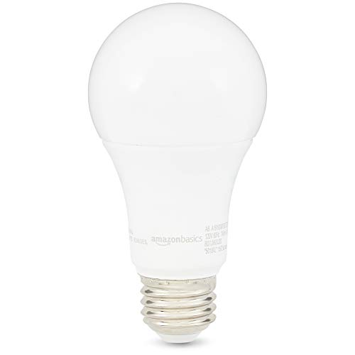 AmazonBasics 100 Watt 10,000 Hours Dimmable 1500 Lumens LED Light Bulb - Pack of 6, Soft White 100 Watt Medium Based Bulb