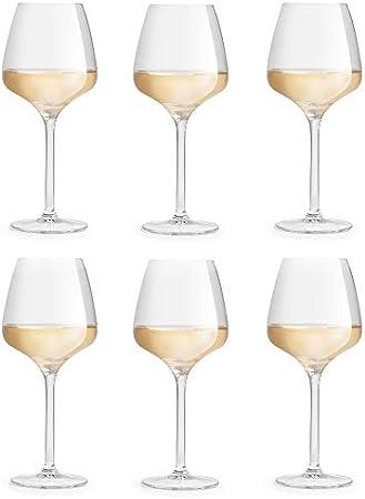 Copa de vino Servan, marca Libbey – 42 cl/420 ml - 6 unidades – diseño circular sofisticado - elegante – resistente al lavado en lavavajillas