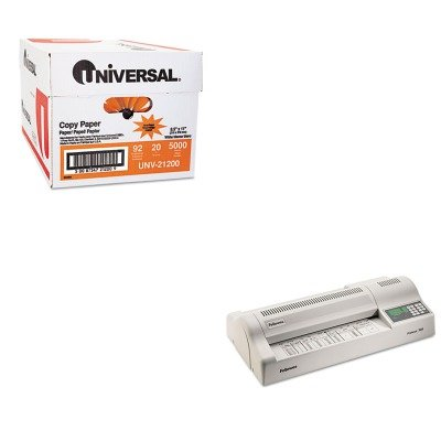 KITFEL5709501UNV21200 - Value Kit - Fellowes Proteus 125 Laminator (FEL5709501) and Universal Copy Paper (UNV21200)