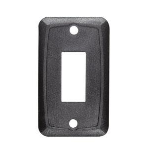 Mounting Single Plate - RV Designer Collection S385 Black Single Mounting Plate (Quantity 6)