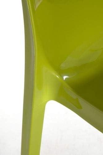Upon Ice Higlopp in policarbonato 54 cm/x 52 cm/x 81/cm GRAND SOLEIL Grandsoleil Sedia impilabile Colore: Verde Lucido
