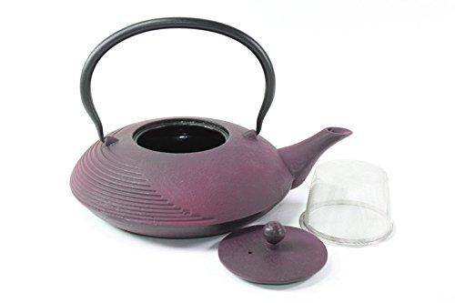 Japanese Antique 24 fl oz Purple Violet Lantern Cast Iron Teapot Tetsubin with Infuser (Violets Teapot compare prices)