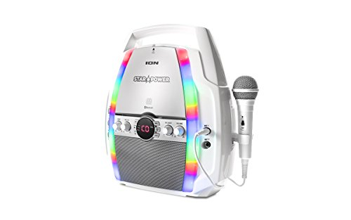 Ion Audio Star Power | Portable Karaoke System with CD Player and Bluetooth (Cd+g Karaoke Home Audio)