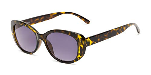 Readers.com | The Firefly Reading Sunglasses +2.00 Yellow Tortoise with Smoke Oval Stylish Women's Full Frame
