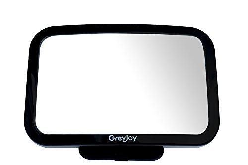Greyjoy - Espejo para asiento trasero de bebé, color negro, 29,85 x 21,59 x 19,05 cm