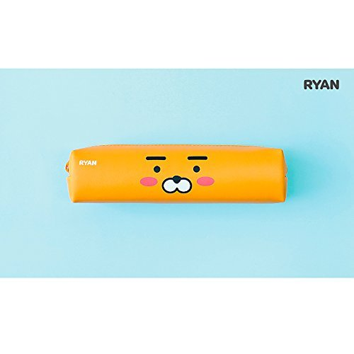 Friends Stationery - Kakao Friends 2 Faces Orange Ryan Pencil Pouch