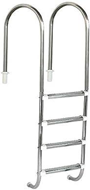 """Escada Sodramar Marinheiro 1 1/2"""" Com 4 Degraus Em Inox Escada Sodramar Marinheiro 1 1/2"""" Com 4 Degr"""