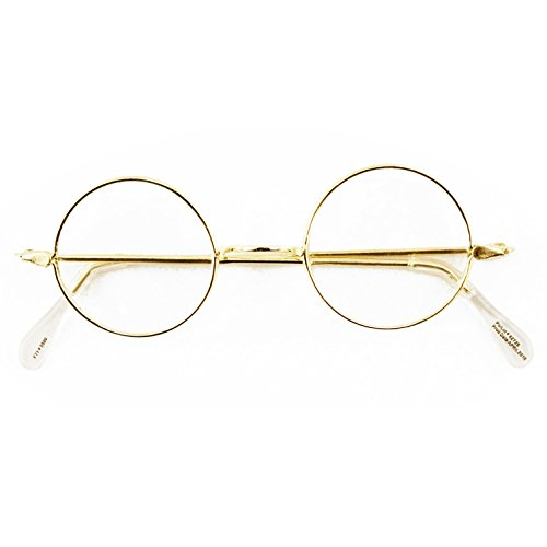 Round Wire Rim Glasses Costume - Glass Rims