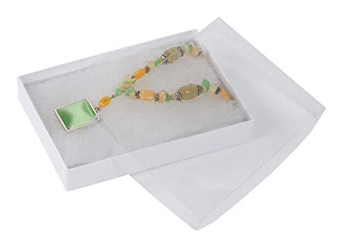 - SSWBasics White Vu-Top Cotton Filled Jewelry Boxes (5¼