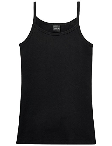 Schiesser Mädchen Unterhemd 205450, Gr. 152 (10-11Y), Schwarz (000-schwarz)