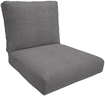 Eddie Bauer Home Deep Seating Lounge Double Piped, Small, Cast Slate