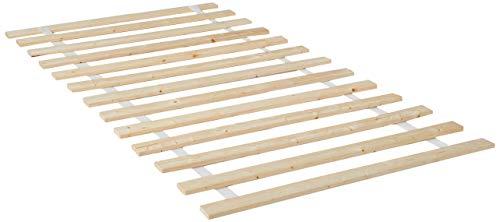 - Continental Matress 1-Inch Standard Mattress Support Wooden Bunkie Board/Slats, Twin, Beige