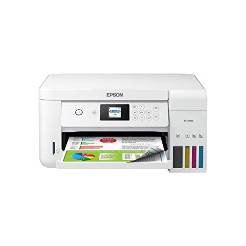 Epson EcoTank ET-2760 Wireless Color All-in-One Cartridge-Free Supertank Printer with Scanner and Copier (Best Epson Printer For Sublimation)