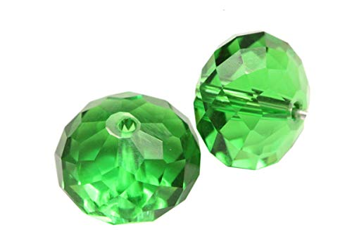 24 10mm Adabele Austrian Rondelle Crystal Beads Fern Green Rondelle Spacer Compatible with 5040 Swarovski Crystals Preciosa SS1R-1015