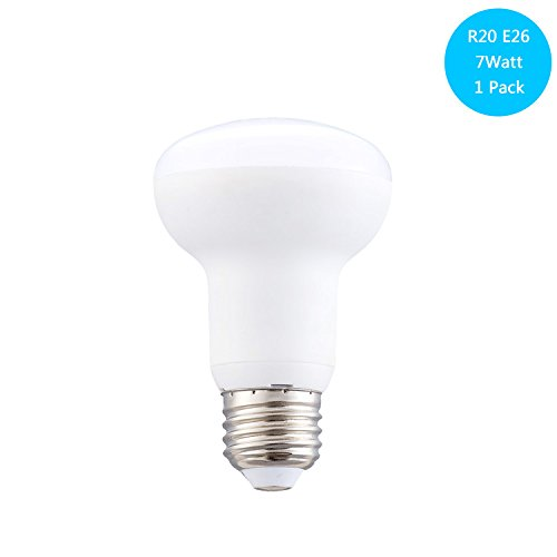 ((Pack of 1)65W Incandescent Bulb Replacement, 7W Dimmable LED Bulb, E26 Socket, Day White 5000k, R63 Led Spotlight Lamp, Mushroom Light Bulb, 700Lumen, 120Volt, 120Degree, Dimmable)