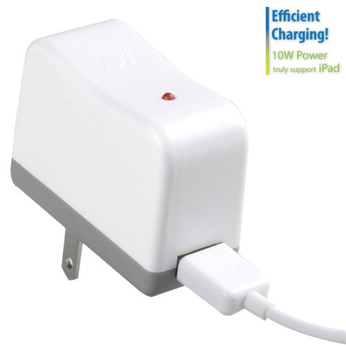 Travel Charger with Sync Cable for Apple iPad, Apple iPad 2, Apple iPhone 3G/3GS, Apple iPhone 4S/4, Apple iPod nano (3rd generation), Apple iPod nano (4th generation), Apple iPod nano (5th generation), Apple iPod nano (6th generation), Apple iPod touch (