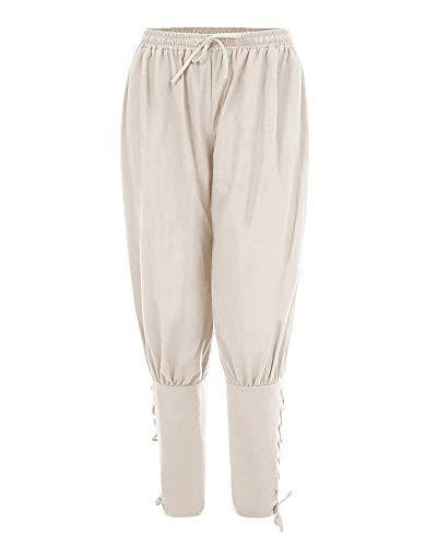 a00dcd7b2a7d4 Uomo Gladiolusa Baggy Pantaloni Jogger Bianco Harem Pantalone Medievali Da  Sportivi wIfU16qgI
