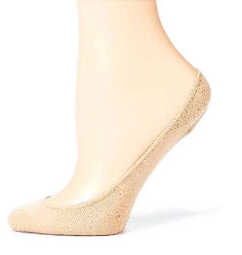(HUE Women's Hidden Cotton Liners, Cream, Small/Medium )