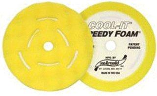 - 2 Pk 8 Inch Yellow Foam Cool It Waffle Style Buffing Pad