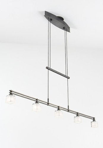 Holtkoetter 5515 HBOB G5012 Halogen Low-Voltage Contemporary Chandelier, Hand-Brushed Old Bronze With Krystall Square Glass, 9