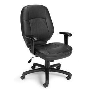 Stimulus Series Leatherette Ergonomic Task Chair with Arms