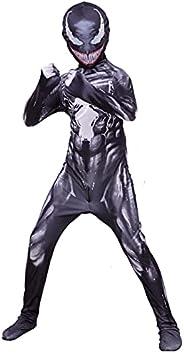 Bonniesty Superhero Costume for Kids Zentai Bodysuit Spandex 3D Style Jumpsuit Boys Girls Halloween Cosplay